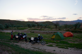 Camping with brothers riding KTM's