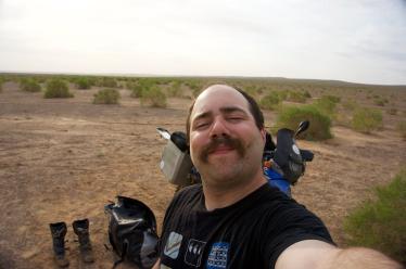 shaving in the maranjab desert